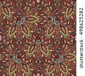 ornate floral seamless texture  ... | Shutterstock .eps vector #498625282