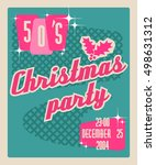 template for an invitation to a ... | Shutterstock .eps vector #498631312