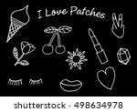 set of stickers  pins  patches... | Shutterstock .eps vector #498634978