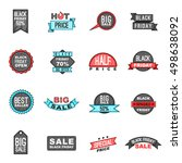 black friday icons set in... | Shutterstock . vector #498638092