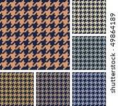 vector set of houndstooth... | Shutterstock .eps vector #49864189