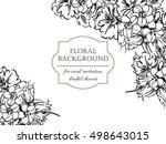 vintage delicate invitation... | Shutterstock . vector #498643015