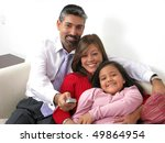 portrait of a smiling family...   Shutterstock . vector #49864954