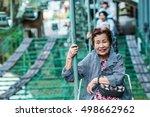 senior female travelers who are ... | Shutterstock . vector #498662962