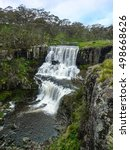 Small photo of Ebor Falls. A cascading waterfall running over basalt. Guy Fawkes River National Park, Armidale, NSW Australia.