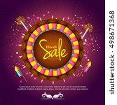 creative sale banner or sale... | Shutterstock .eps vector #498671368
