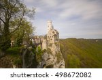 the romantic castle of... | Shutterstock . vector #498672082