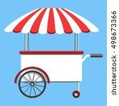 vector food menu flyer. flat... | Shutterstock .eps vector #498673366