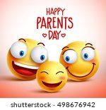 family of smiley faces vector... | Shutterstock .eps vector #498676942