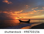 beautiful sunrise on the beach... | Shutterstock . vector #498703156