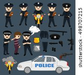 police and equipments vector | Shutterstock .eps vector #498707215