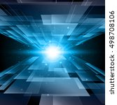 abstract blue technology... | Shutterstock .eps vector #498708106