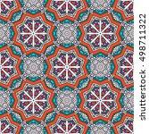 vector seamless mandala pattern.... | Shutterstock .eps vector #498711322