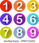 illustration of nine colorful... | Shutterstock .eps vector #498711652