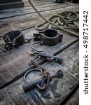 shackles  tool used in the... | Shutterstock . vector #498717442