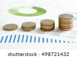 financial accounting with rows... | Shutterstock . vector #498721432