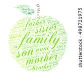 family words cloud in shape of... | Shutterstock .eps vector #498721975