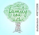 family words cloud in shape of... | Shutterstock .eps vector #498722008