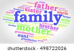 family words cloud on soft... | Shutterstock .eps vector #498722026
