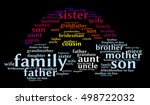 family relationships words... | Shutterstock .eps vector #498722032