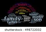 family relationships words... | Shutterstock .eps vector #498722032