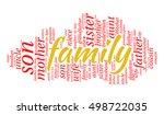 family kinship words cloud ... | Shutterstock .eps vector #498722035
