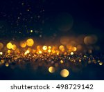 glitter lights grunge... | Shutterstock . vector #498729142