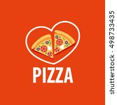 pizza vector logo | Shutterstock .eps vector #498733435