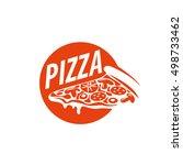 pizza vector logo | Shutterstock .eps vector #498733462