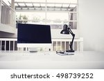 desktop pc mockup | Shutterstock . vector #498739252