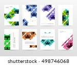 geometric background template... | Shutterstock .eps vector #498746068