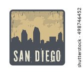 grunge vintage stamp with text... | Shutterstock .eps vector #498746452