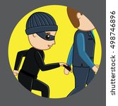 pickpocket trying to steal... | Shutterstock .eps vector #498746896