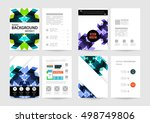 geometric background template... | Shutterstock .eps vector #498749806