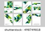 geometric background template... | Shutterstock .eps vector #498749818