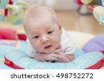 cute newborn baby portrait...   Shutterstock . vector #498752272