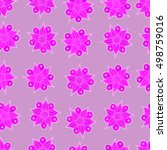 seamless pattern of stylized... | Shutterstock . vector #498759016