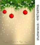 golden christmas and new year... | Shutterstock .eps vector #498768946