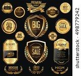 premium and luxury golden retro ... | Shutterstock .eps vector #498779242