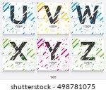 label template. color alphabet...   Shutterstock .eps vector #498781075