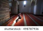 after prayers  muslims praying... | Shutterstock . vector #498787936