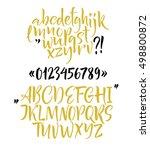 alphabet letters  lowercase ... | Shutterstock .eps vector #498800872