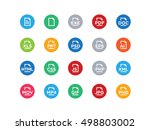 file types formats vector icons ... | Shutterstock .eps vector #498803002