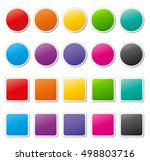 illustration of colorful icons... | Shutterstock .eps vector #498803716