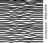 seamless hand drawn striped... | Shutterstock .eps vector #498815998