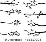 stylized vector black tree... | Shutterstock .eps vector #498817375