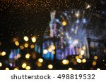 holiday lighting background | Shutterstock . vector #498819532