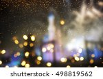 holiday lighting background | Shutterstock . vector #498819562