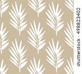 seamless pattern with brush... | Shutterstock .eps vector #498823402