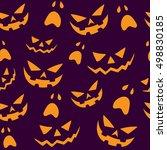 halloween seamless background... | Shutterstock .eps vector #498830185